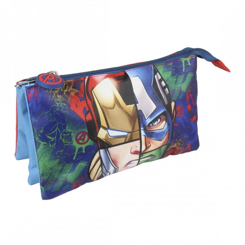 Penál / pouzdro tříkomorové Avengers / 22 x 11 cm / veci do skoly