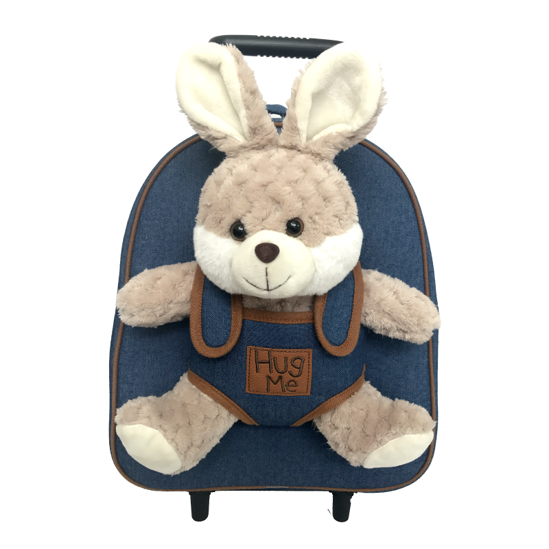 Batoh na kolečkách s odnímatelným plyšovým králíkem / 29 x 33 x 12 cm