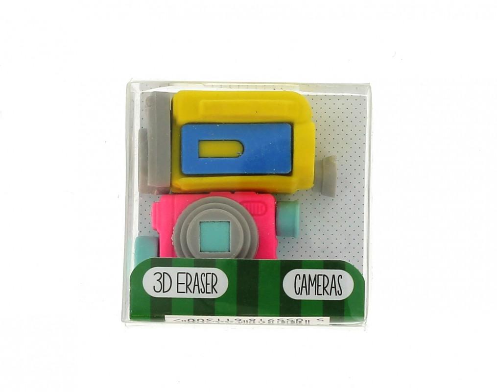Dekorativní školní guma Kamera / 2 kusy gumy v balení