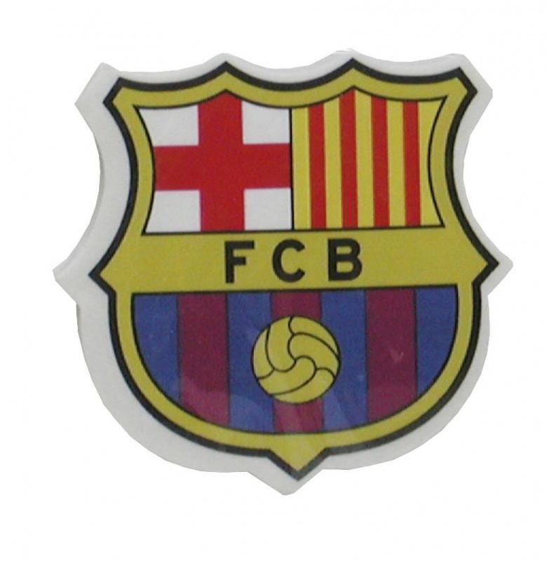 Školní guma znak FC Barcelona / 2,5 x 0,5 x 3,5 cm