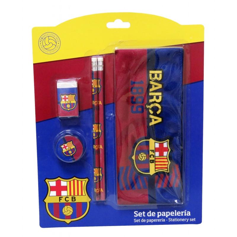 Školní set s motivem FC Barcelona / penál, tužky , guma, ořezávátko / veci do skoly