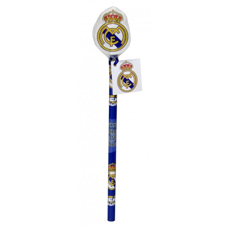 Tužka s dekorativní gumou znakem Real Madrid / veci do skoly