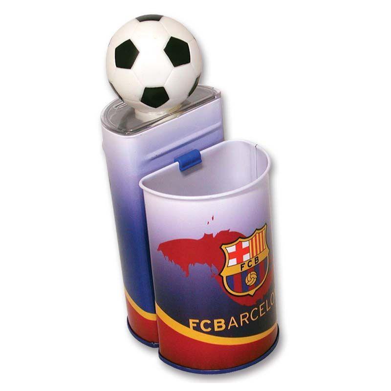 Stojánek na tužky a pokladnička s motivem  FC Barcelona / veci do skoly