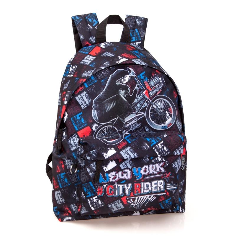 Studentský batoh Delbag CITY RIDER / 43 x 33 x 13 cm / veci do skoly