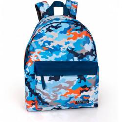 Studentský batoh Delbag modrý / 43 x 33 x 13 cm