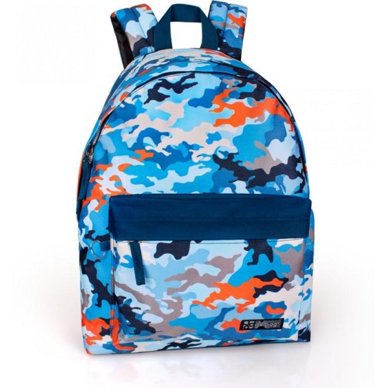 Studentský batoh Delbag modrý / 43 x 33 x 13 cm / veci do skoly