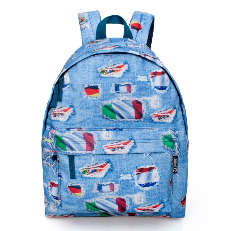 Studentský batoh Delbag vlajky / 43 x 33 x 13 cm / veci do skoly