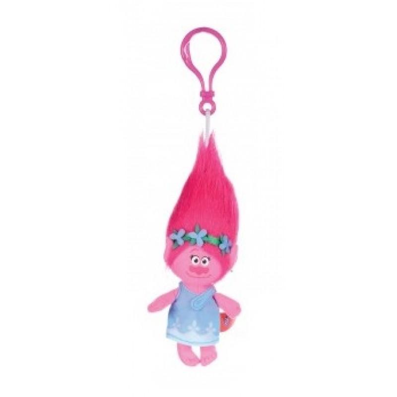 Klíčenka / Přívěsek Trolls Poppy 3D s karabinkou / 23 cm