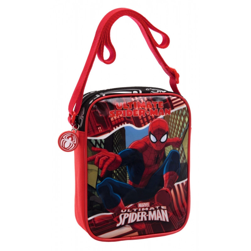 Chlapecká taška na jedno rameno Spiderman / 15 x 20 x 6 cm