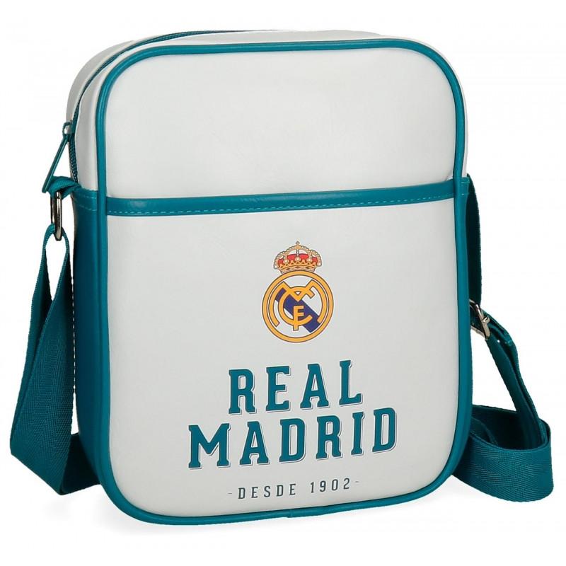 TAŠKA NA JEDNO RAMENO Real Madrid modrá / 20 x 25 x 7 cm / veci do skoly