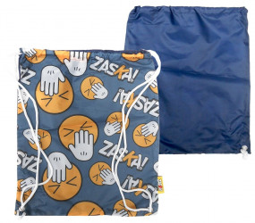 Pytlík / taška na přezůvky Zaska Modrá / 44,5 x 38 cm