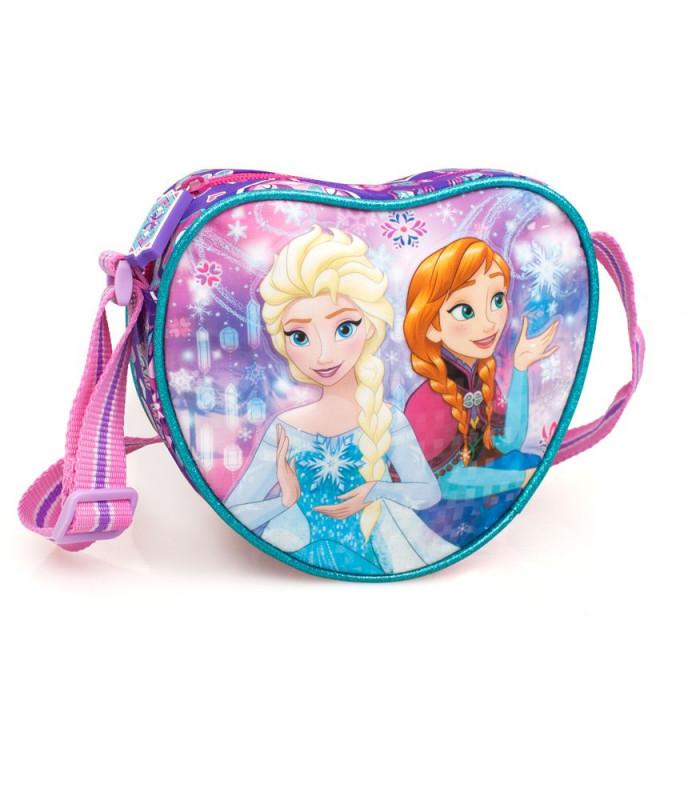 5863957743 Dívčí taška na jedno rameno Frozen   srdce   18 x 16 x 5 cm