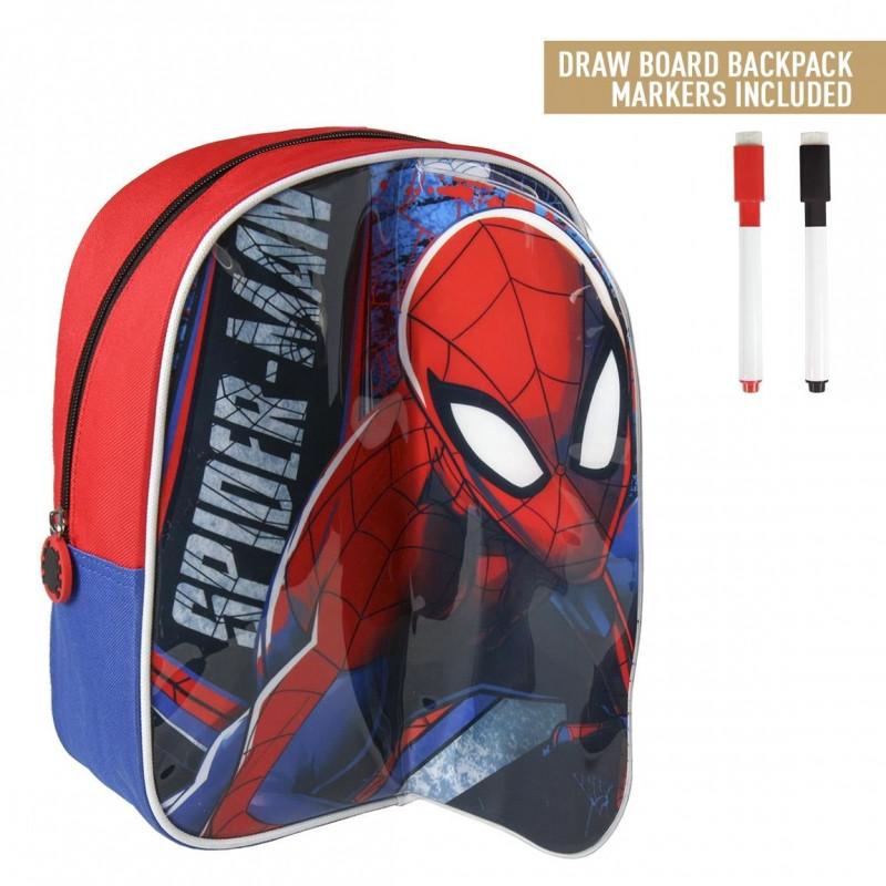 Batoh s přední plochou na kreslení Spiderman / 25 x 31 x 10 cm