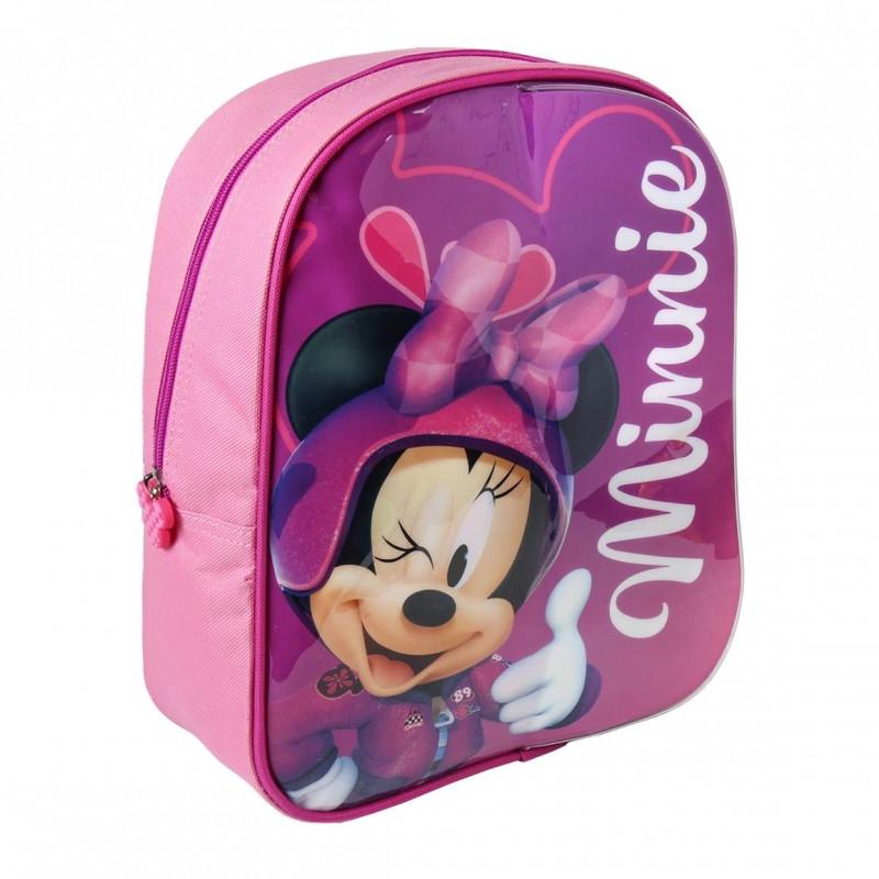 064852420 DÍVČÍ BATOH S PŘEDNÍ PLOCHOU NA KRESLENÍ Minnie Mouse / 23 X 28 X 9 CM