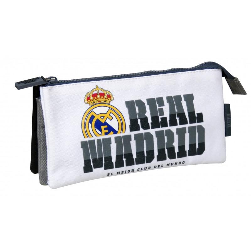 Penál / pouzdro Real Madrid / 3 přihrádky / vecidoskoly