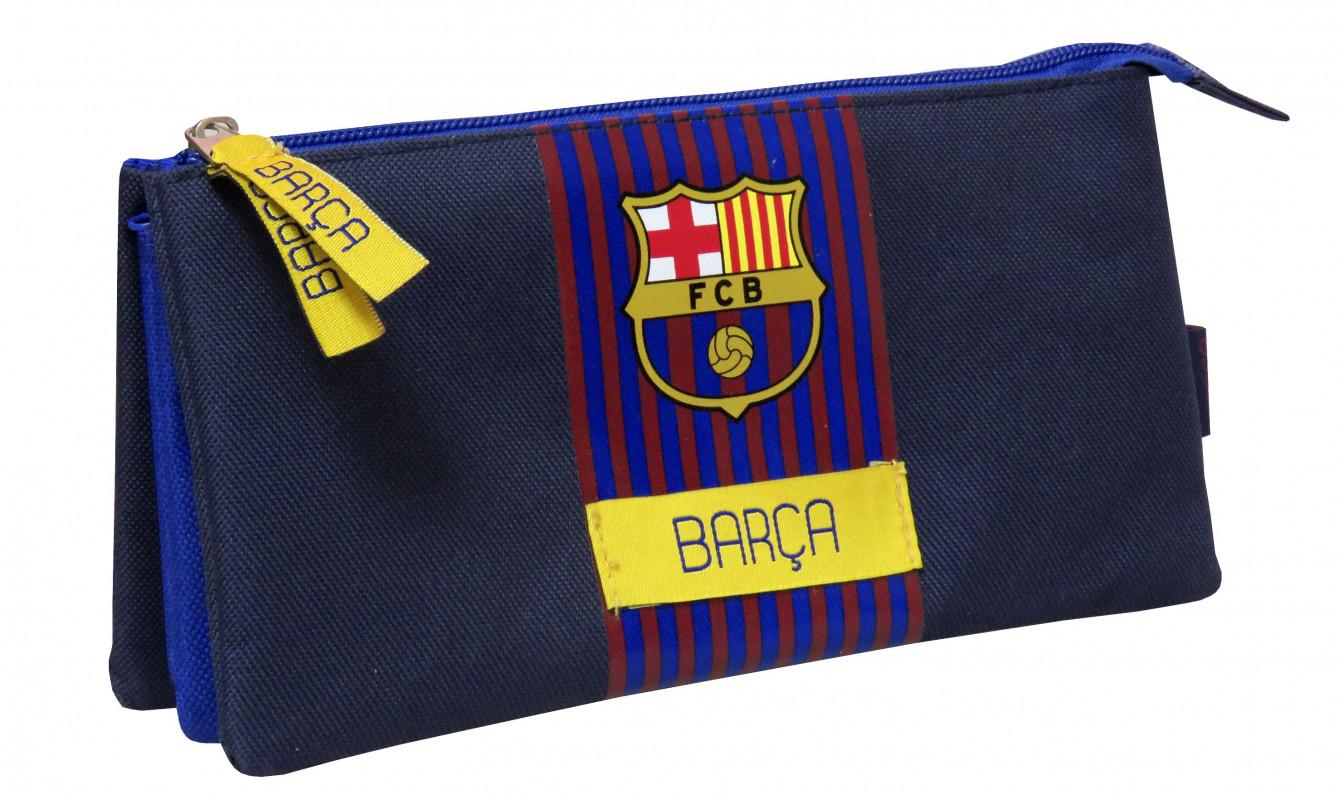 Penál / pouzdro FC Barcelona / 3 přihrádky
