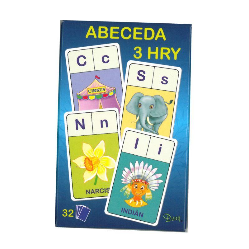 Karty Abeceda / 3 hry / vecidoskoly
