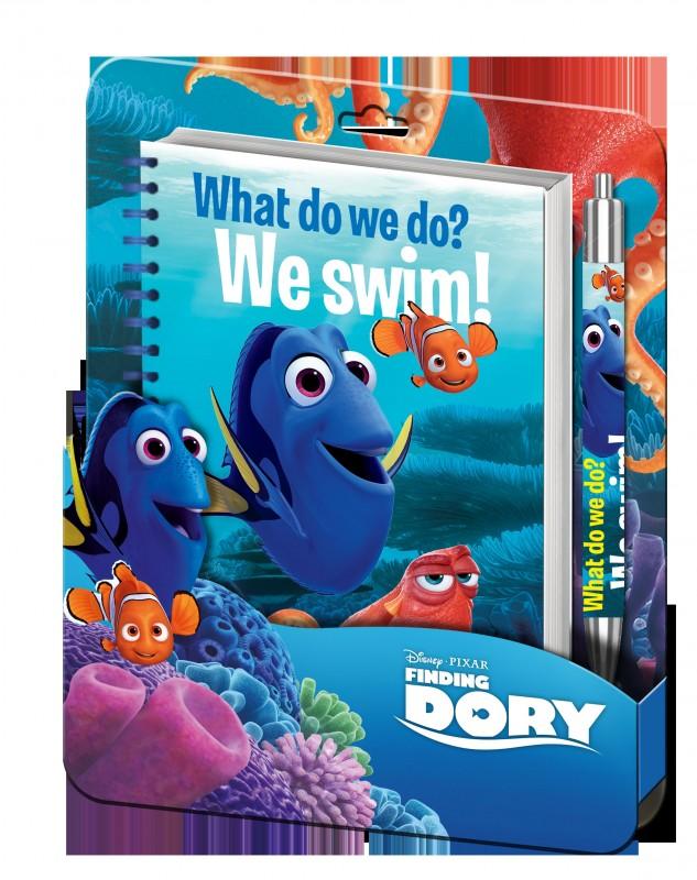 Sada školních potřeb Notes a kuličkové pero / propiska Hledá se Dory